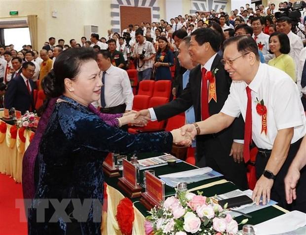 Top legislator hails patriotism emulation movement in Thai Nguyen hinh anh 1