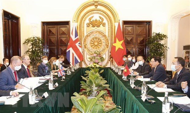 Vietnam, UK issue joint declaration on strategic partnership hinh anh 1