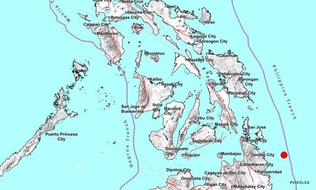 5.2-magnitude quake strikes southern Philippine province hinh anh 1