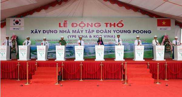 Work starts on RoK-funded electronic component factory in Vinh Phuc hinh anh 1