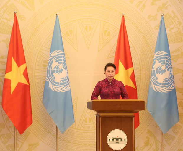 Remarks by NA Chairwoman at UNGA High-level Meeting hinh anh 1