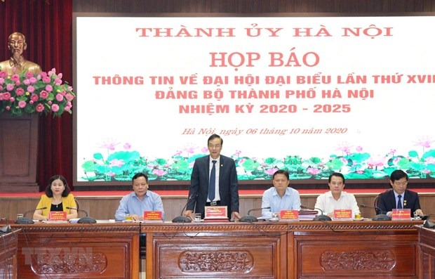 Hanoi ready for 17th municipal Party Congress hinh anh 1