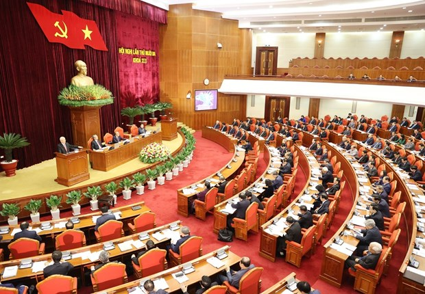 Third working day of Party Central Committee's 13th session held hinh anh 1