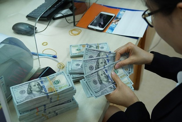 Reference exchange rate down 5 VND on October 9 hinh anh 1