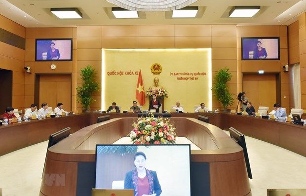 NA Standing Committee's 49th session opens hinh anh 1