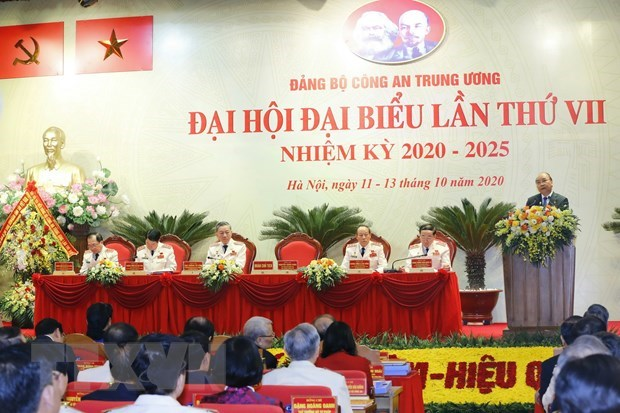 PM addresses Central Public Security Party Organisation's 7th Congress hinh anh 1