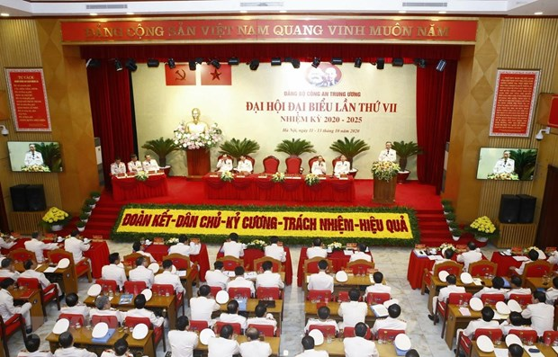 Seventh Congress of Central Public Security Party Organisation opens hinh anh 1