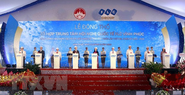 FLC commences international conference centre's construction in Vinh Phuc hinh anh 1