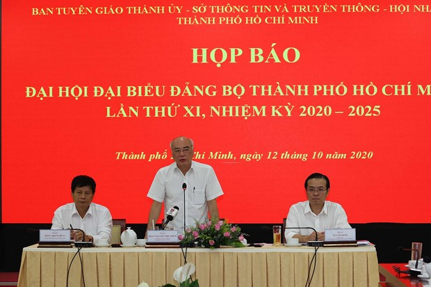 HCM City's 11th Party Congress to officially open on Oct 15 morning hinh anh 1