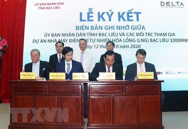 MoU inked for liquefied natural gas-fired power project in Bac Lieu hinh anh 1