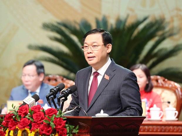Politburo member re-elected Hanoi Party Committee Secretary hinh anh 1