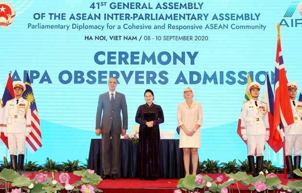 Parliament leaders congratulate Vietnam on AIPA-41 hinh anh 1