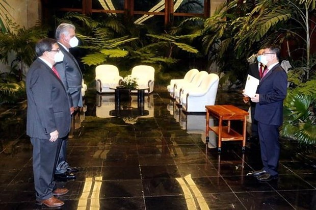 Cuba determined to continue expanding ties with Vietnam: President Diaz - Canel hinh anh 1