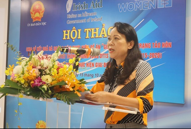 Workshop reviews project on reducing child marriage among ethnic minorities hinh anh 1