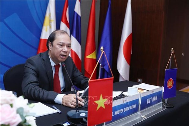 Meeting promotes ASEAN-EAS cooperation in adapting to COVID-19 hinh anh 1