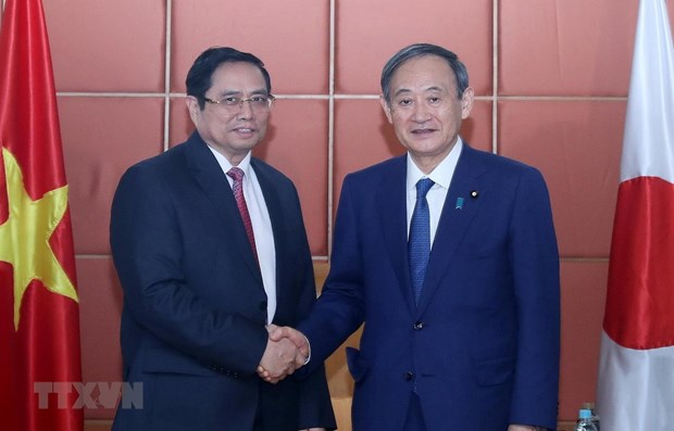 Party official meets Japanese PM hinh anh 1