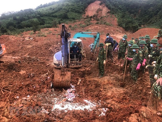 All 22 bodies in Quang Tri's landslide recovered hinh anh 1