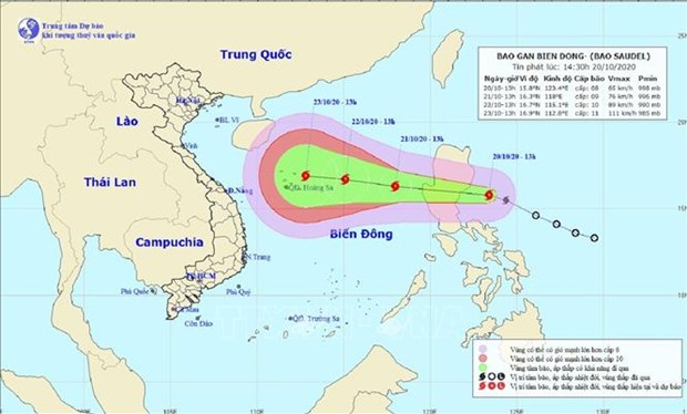 New storm moving towards East Sea hinh anh 1