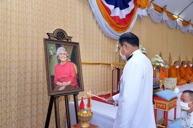 Thai PM makes merit to commemorate Princess Srinagarindra hinh anh 1