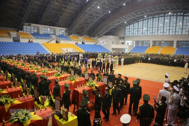 Services held for 22 Quang Tri landslide-killed soldiers hinh anh 1