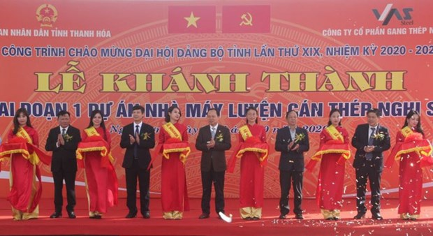 First stage of Nghi Son steel rolling mill inaugurated hinh anh 1