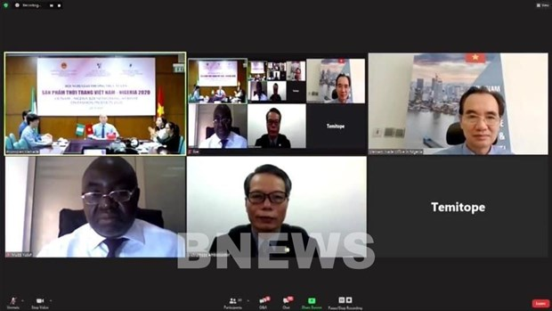 Vietnam, Nigeria hold B2B Networking Webinar on Fashion Products hinh anh 1