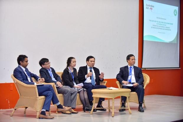 Symposium promotes sustainable enterprise-university linkages hinh anh 1