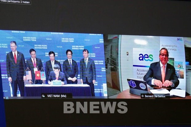 PV GAS, AES Corporation sign deal on Son My LNG import terminal project hinh anh 1