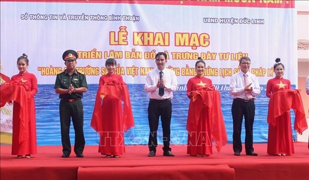 Hoang Sa, Truong Sa exhibition underway in Binh Thuan hinh anh 1