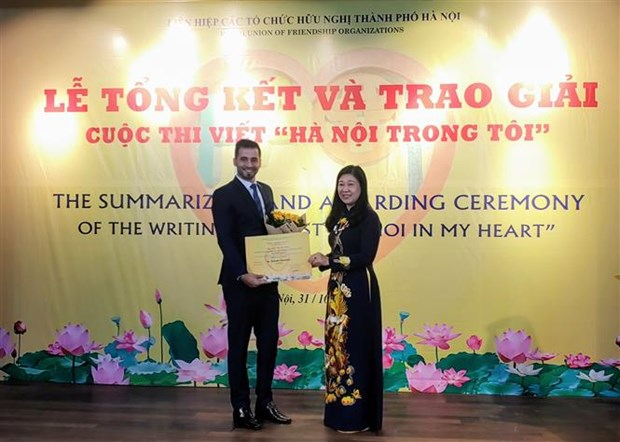Winners of writing contest on Hanoi announced hinh anh 1