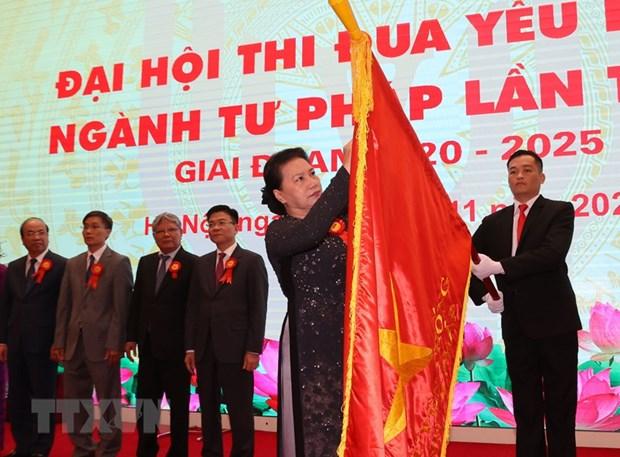 Top legislator attends justice sector's patriotic emulation congress hinh anh 1