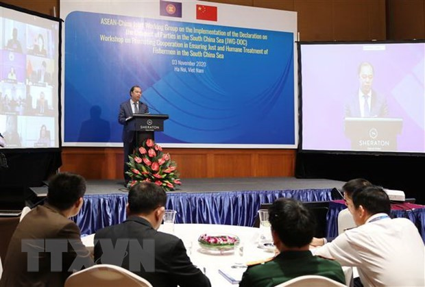 Workshop boosts ASEAN-China cooperation in ensuring just treatment of fishermen hinh anh 1