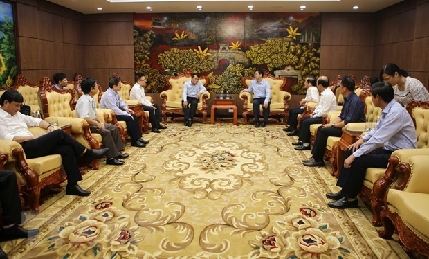 Vietnam News Agency's delegation pays working visit to Quang Tri hinh anh 1