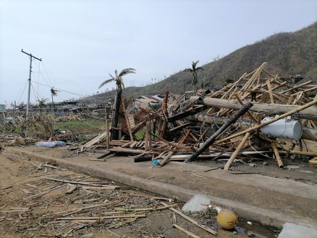 Typhoon Goni completely destroys power system in Philippine island hinh anh 1
