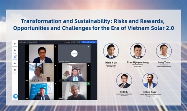Virtual Vietnam solar expo attracts numerous attendees hinh anh 1