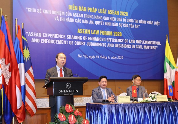 Justice ministry hosts online ASEAN Law Forum 2020 hinh anh 1