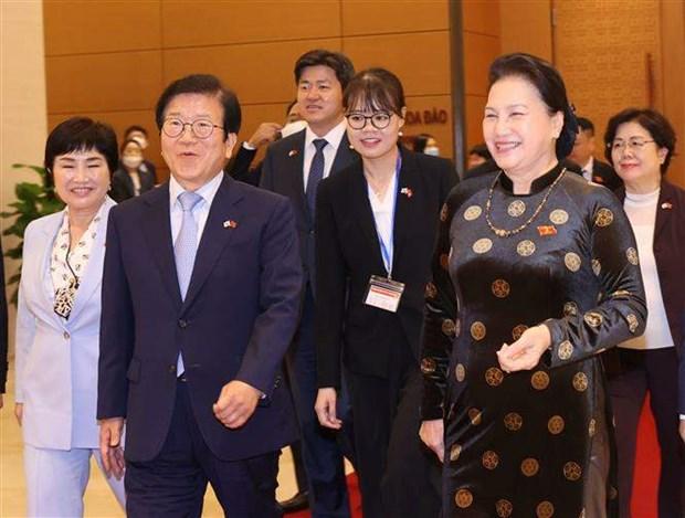 Korean top legislator wraps up visit to Vietnam hinh anh 1