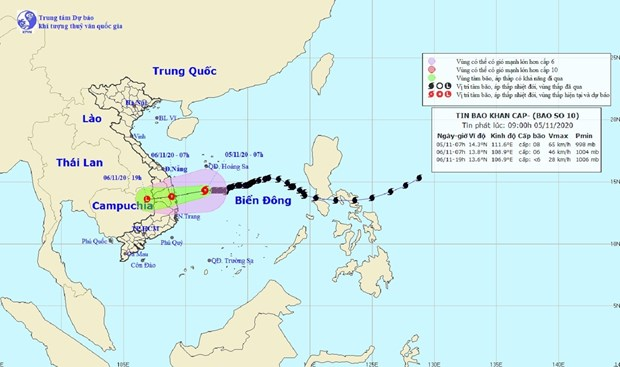 Storm Goni to abate to tropical depression hinh anh 1