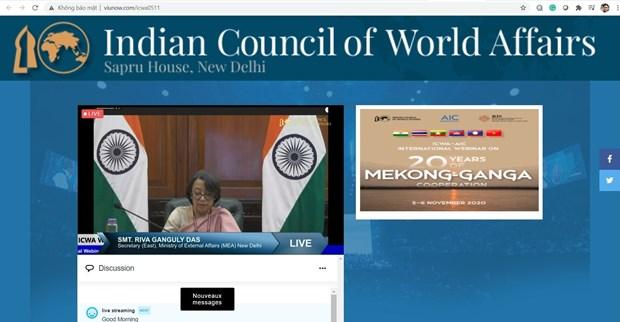 Webinar strengthens post-COVID-19 Mekong-Ganga Cooperation hinh anh 1