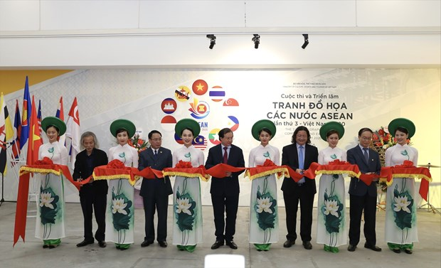 Third ASEAN Graphic Arts Competition - Exhibition draws 345 works hinh anh 1