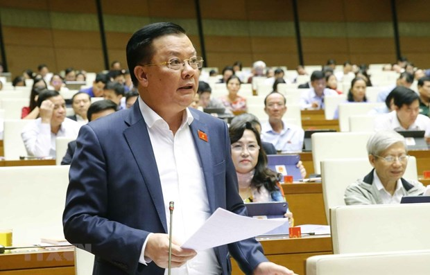 Finance Minister questioned at NA sitting hinh anh 1
