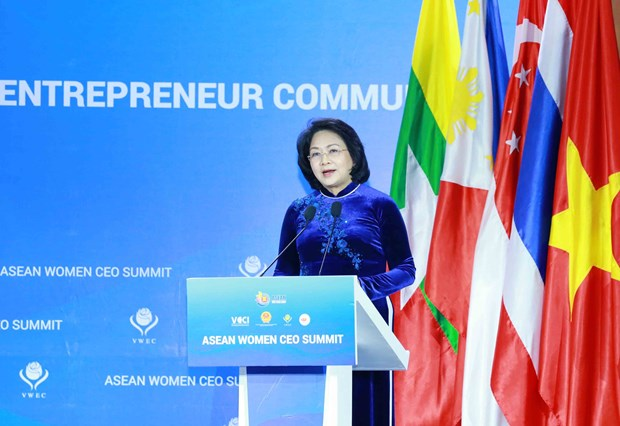 Vice President calls for solidarity among ASEAN businesswomen hinh anh 1