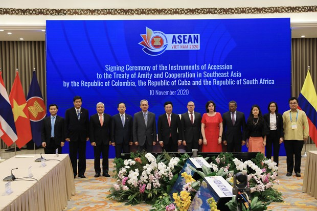Colombia, Cuba, South Africa join Treaty of Amity and Cooperation in Southeast Asia hinh anh 1
