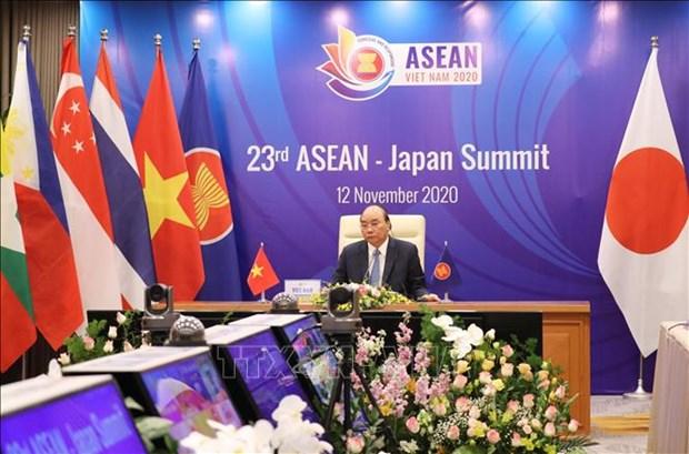 23rd ASEAN-Japan Summit held online hinh anh 1