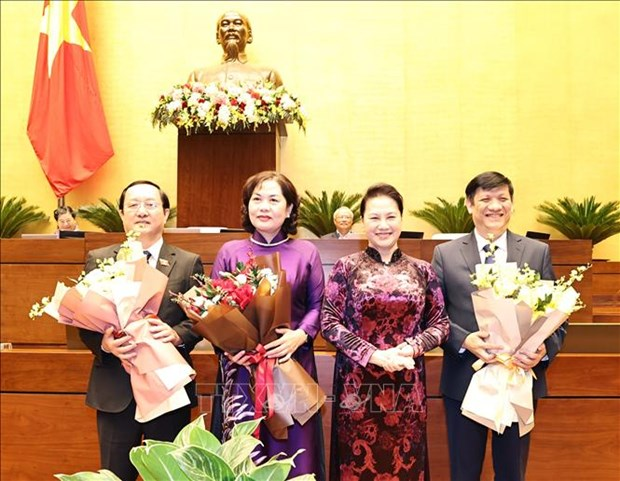 National Assembly ratifies appointment of senior government officials, judges hinh anh 1