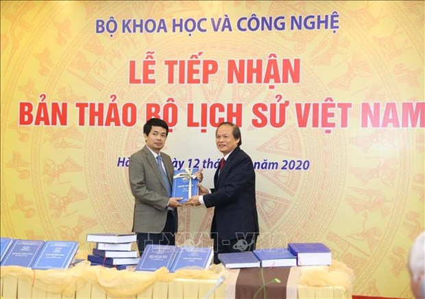 Science ministry receives draft Vietnamese history hinh anh 1