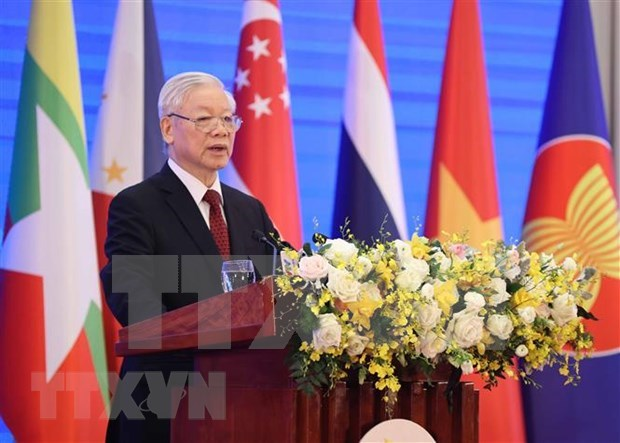 Top Vietnamese leader affirms maintaining peaceful, stable, cohesive and united ASEAN region hinh anh 1