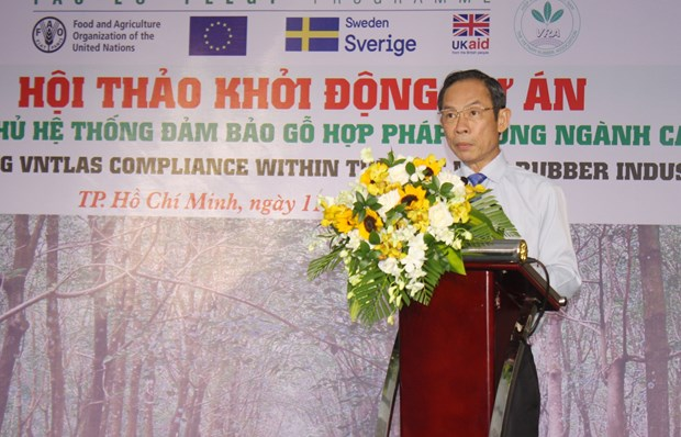 Project launched to ensure legal assurance in rubber wood industry hinh anh 1