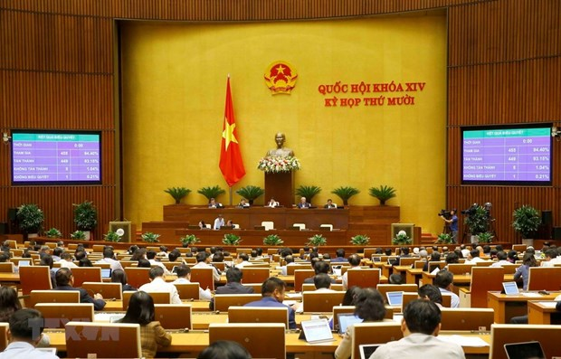 14th National Assembly adopts revised laws hinh anh 1