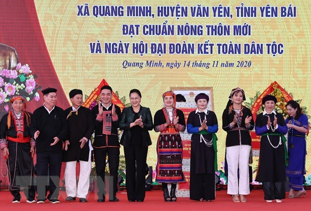 Top legislator attends great national solidarity festival in Yen Bai hinh anh 1